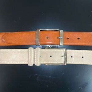 2 Great Men's Belts for just $30